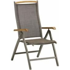 VÝPREDAJ - CHAMPAGNE 5 polohovateľná stolička