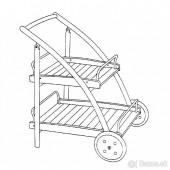 VÝPREDAJ - Servisný vozík CHAMPAGNE